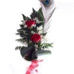 2 Rosas rojas