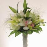 ramo-de-novia-de ilium, orquideas y rosas