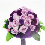 ramo-de-novia-bouquet de rosas violetas